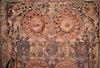 A rare tribal carved door with lion carvings, Chattisgarh, South India circa 1890